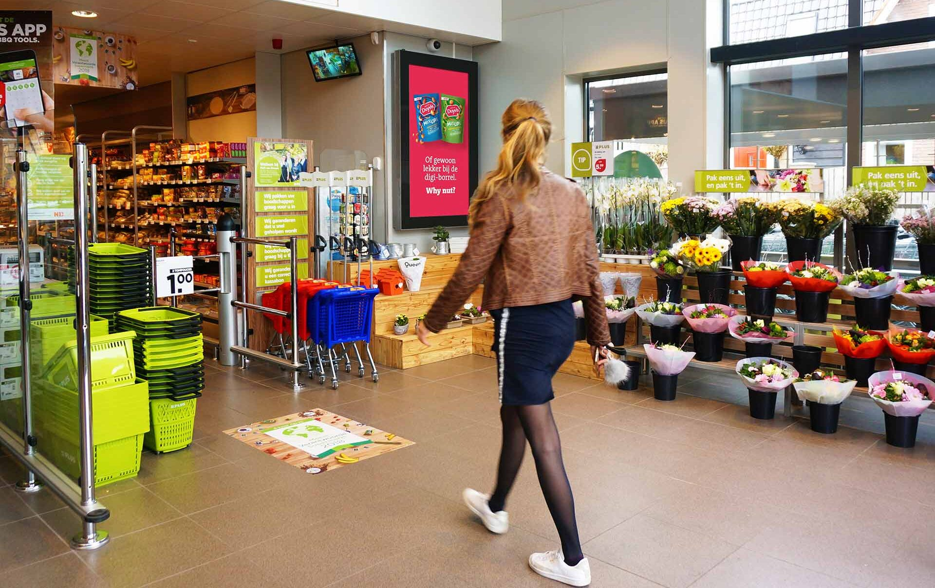 Adverteren in de supermarkt PLUS