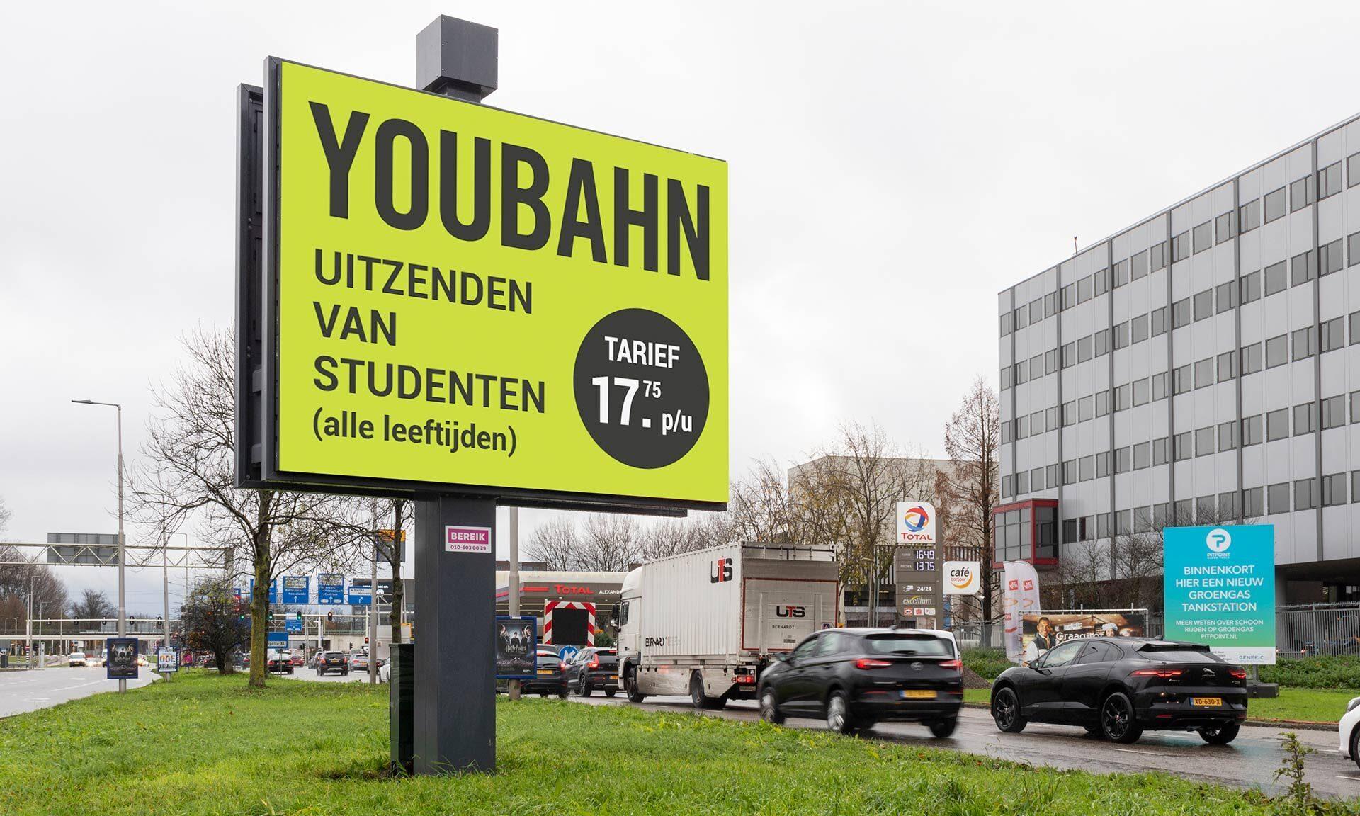 Digitaal billboard digitale reclame